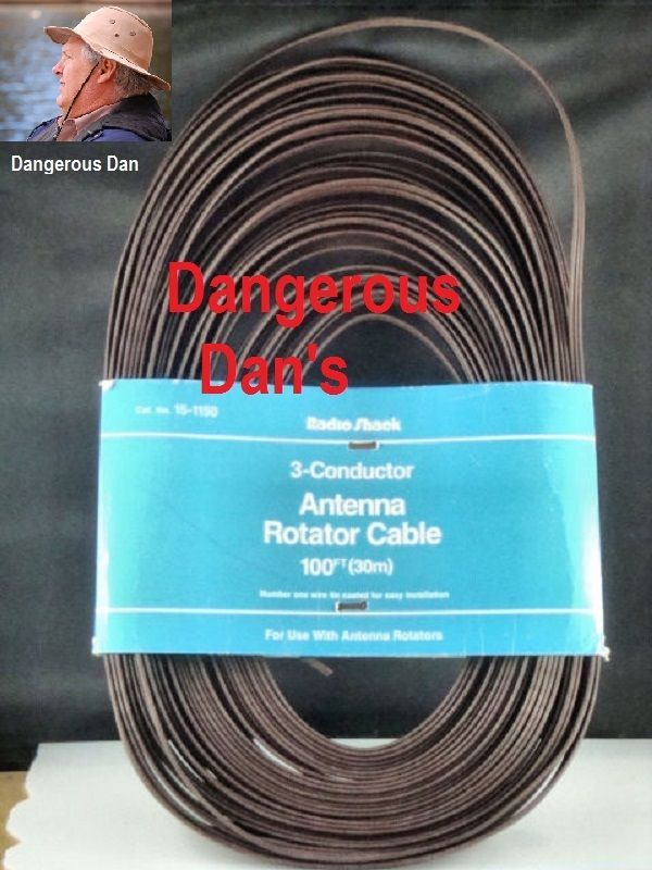 NEW**Radioshack 3-conductor antenna rotator cable 100ft 1501150 pkg ...