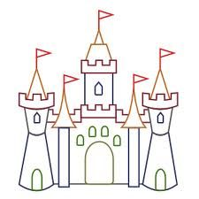 Castle Color Outline Education Classroom Theme Ideas Castle