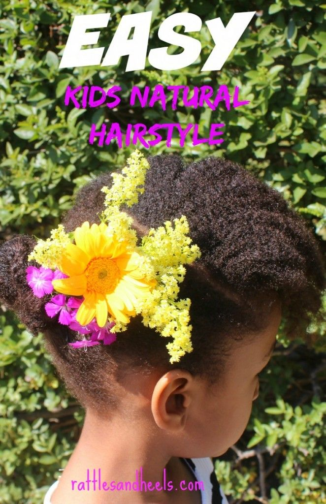 Easy Kids Natural Hairstyle With Dove Quench Absolute