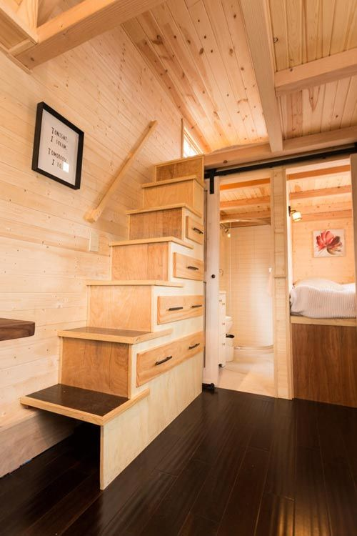 Delicieux Storage Stairs   Porchlight By Hideaway Tiny Homes