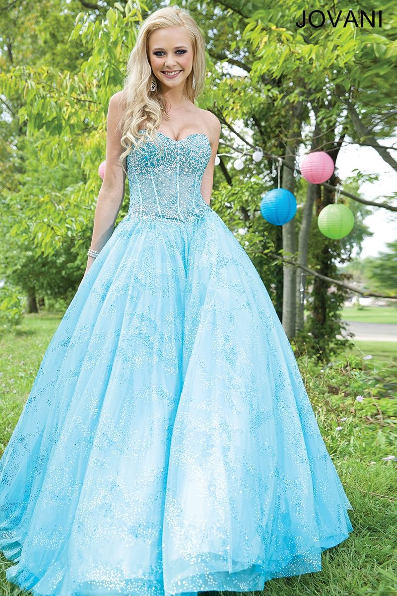 Blue strapless ballgown cool stuff to buy pinterest prom