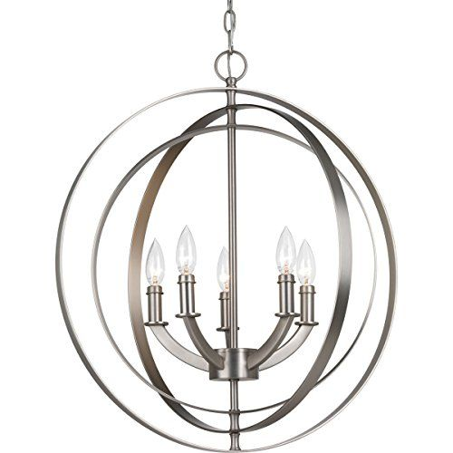 white foyer pendant lighting candle. Progress Lighting P3841-126 5-60W Cand Foyer Pendant, Bur\u2026 White Pendant Candle E