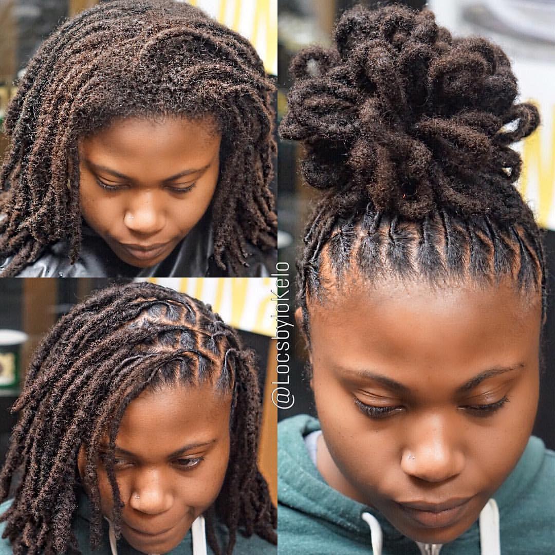 2 790 Likes 33 Comments Thekingoflocs Locsbylokelo On Instagram Custom Loflower For Her Short Locs Hairstyles Dreadlock Hairstyles Black Hair Styles
