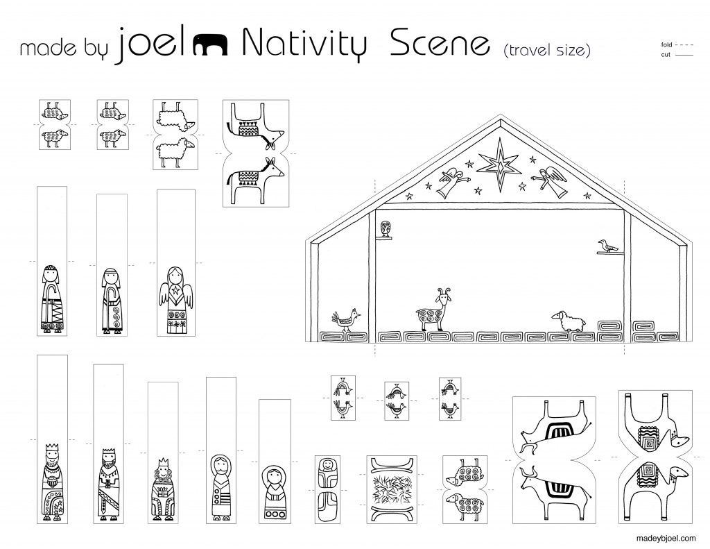 Made By Joel Travel Size Paper City Nativity Scene