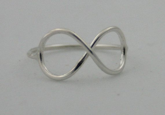 sterling silver infinity ring infinity ring by CapturedIllusions, $25.00