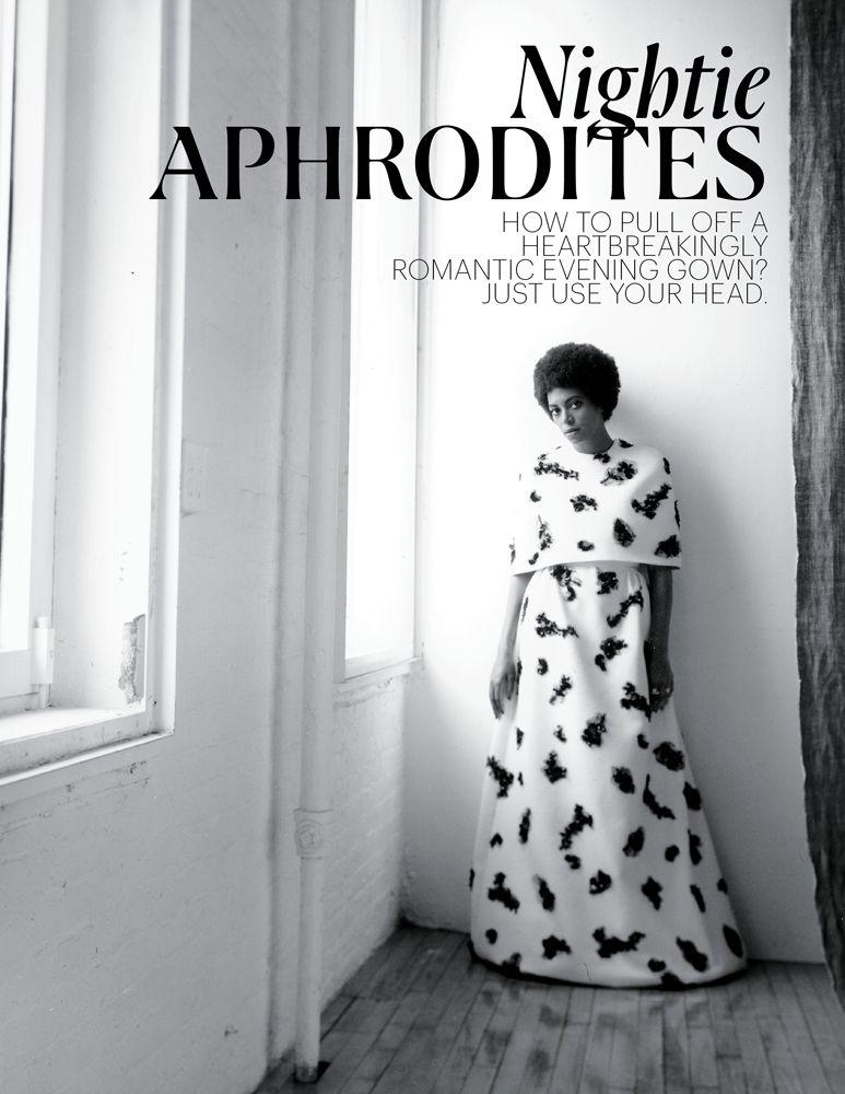 "Solange Knowles, New York Times - ""The recording artist Solange, sister of Beyoncé, rocks a chaste yet enchanting cape dress. Giambattista Valli dress."""