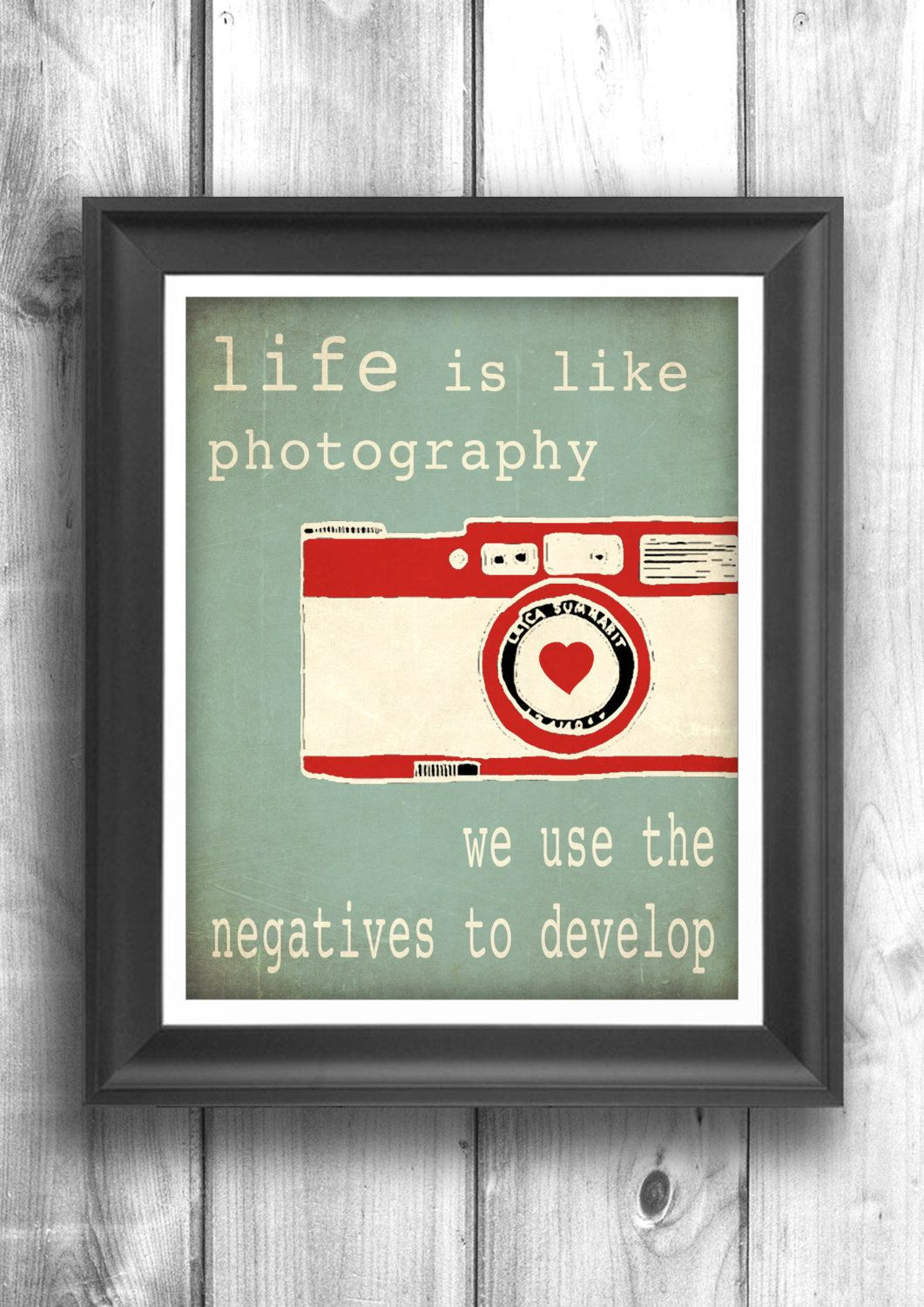 Typographic Poster Quote Art Inspirational Print Wall