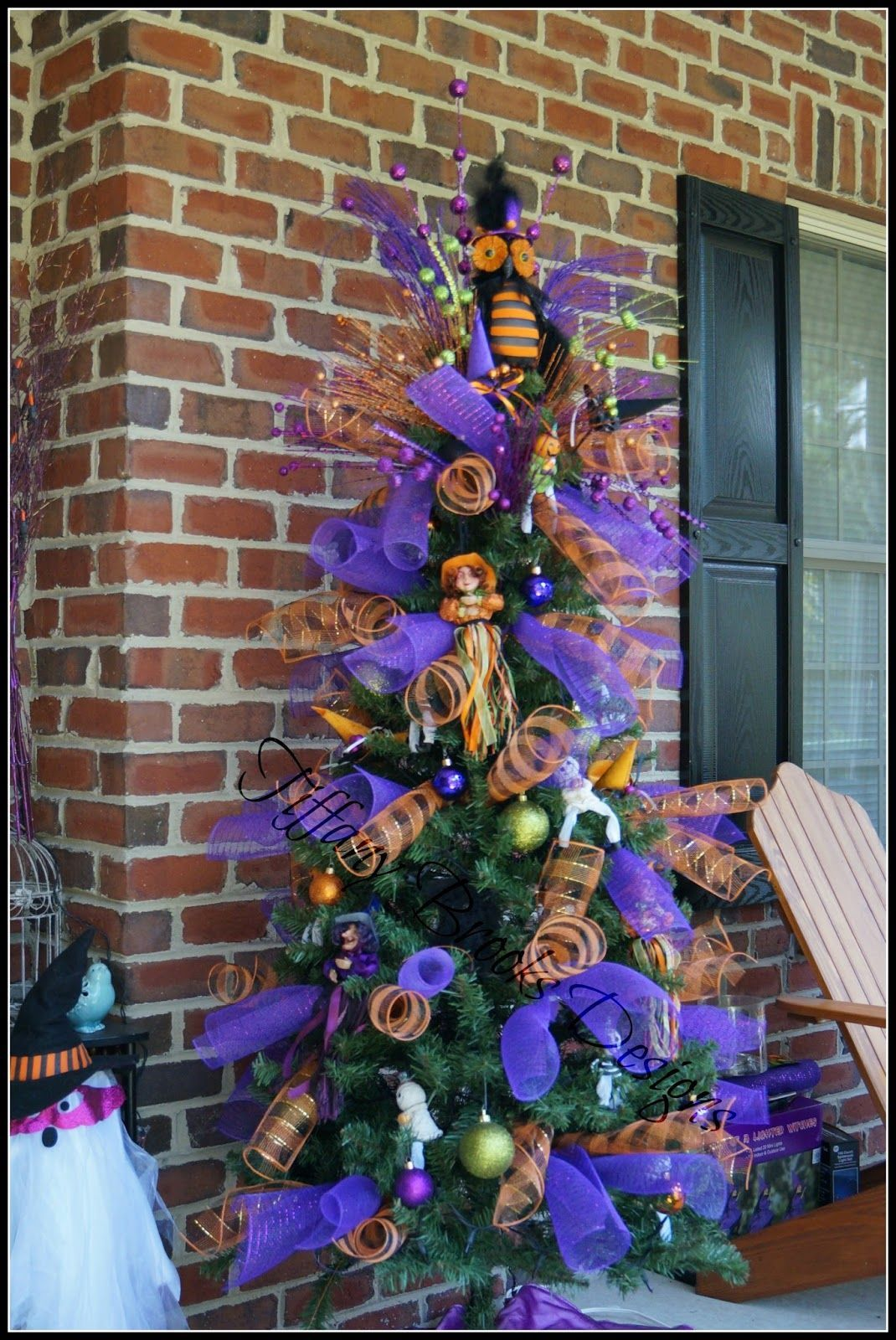 Halloween Tree Decorating Halloween christmas tree