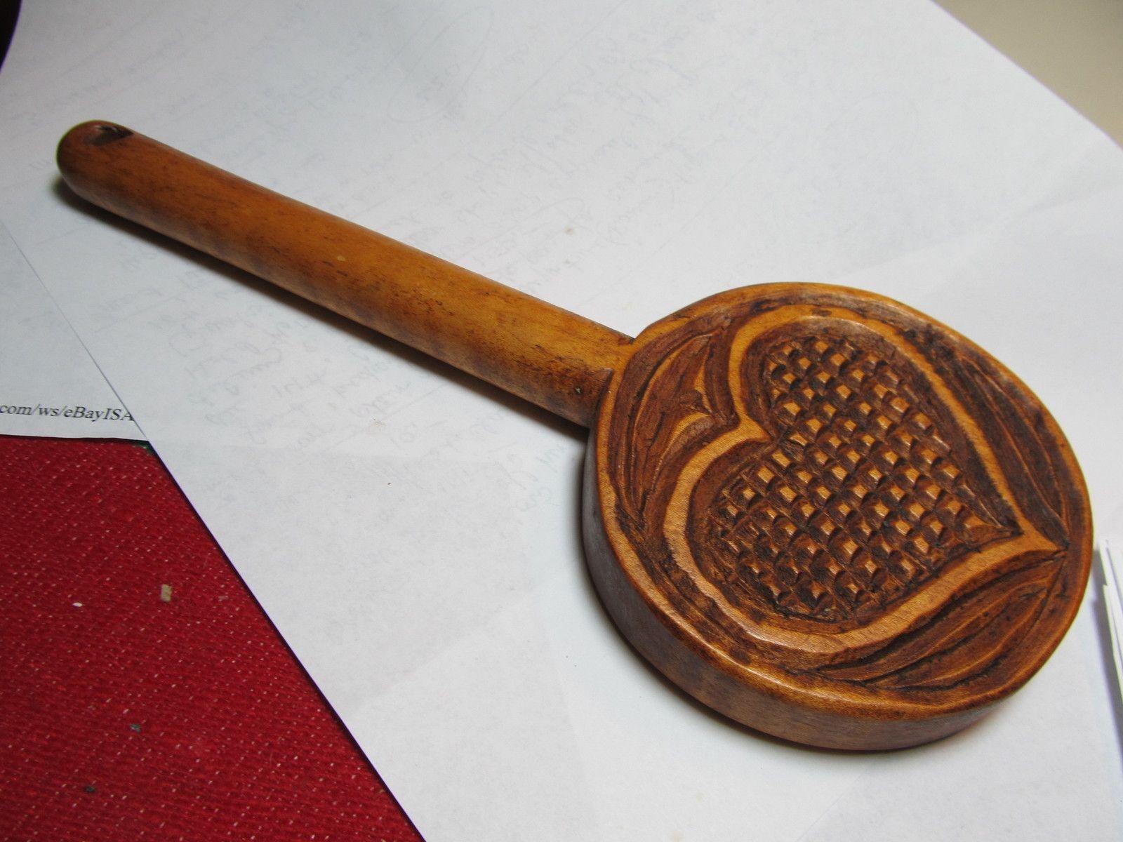 Antique Vintage Butter Mold Press Print Stamp Lollipop Heart Primitive | eBay  sold  225.00