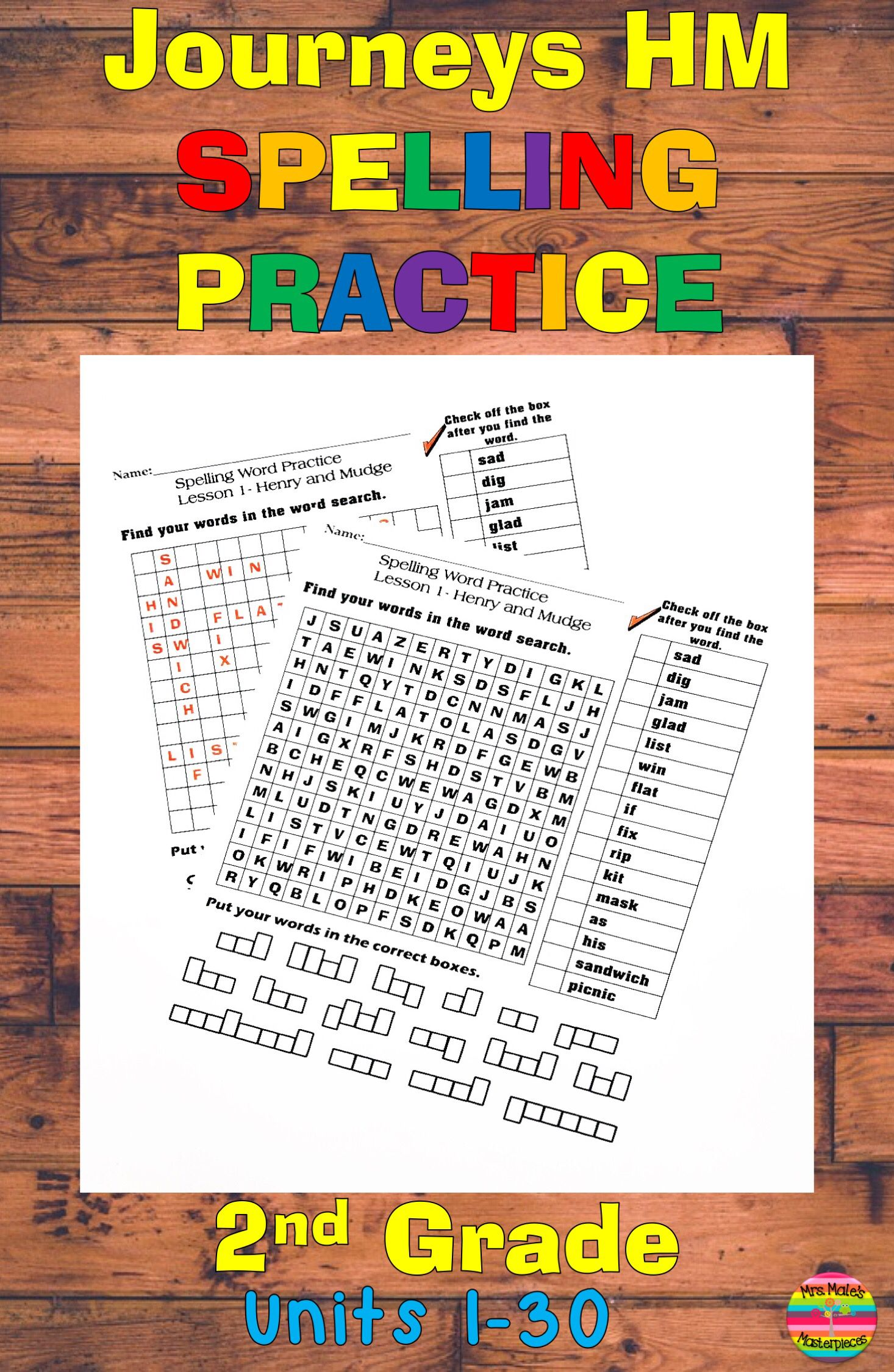 Journeys Hm Spelling Word Practice Lessons 1 30