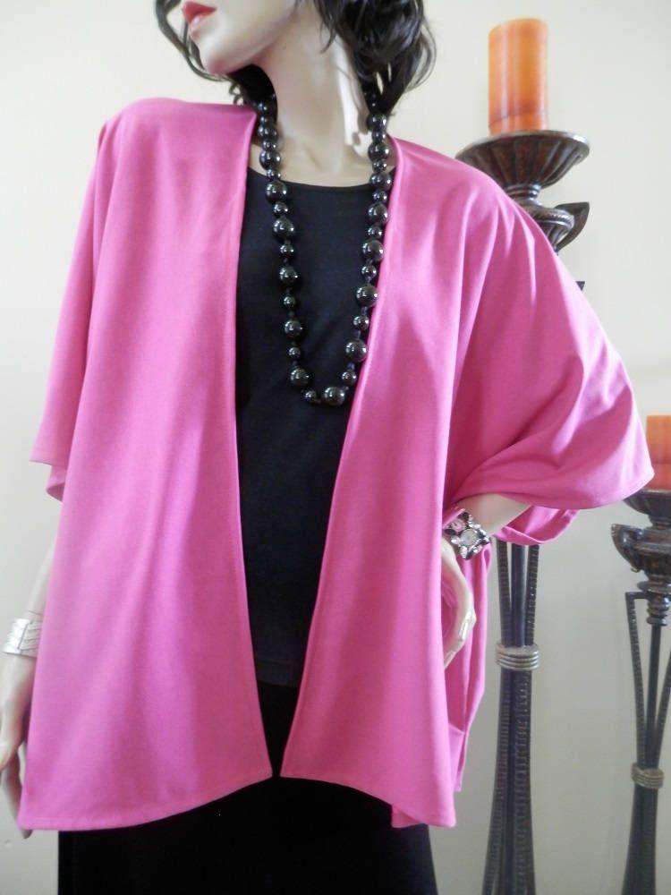 Hot Pink Kimono Cardigan/Kimono Cardigan/Cover Up Kimono/Kimono ...
