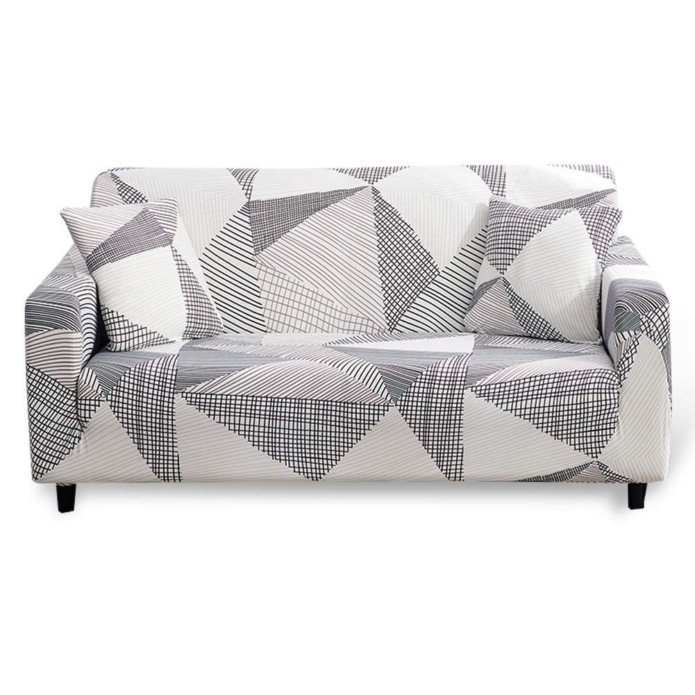 Hotniu Stretch Sofa Cover 3 Seater Printed Elastic Polyester Spandex Couch Covers Universal Fitted Sofa Slipcover Furni In 2020 Couch Covers Sofa Covers Slipcovers
