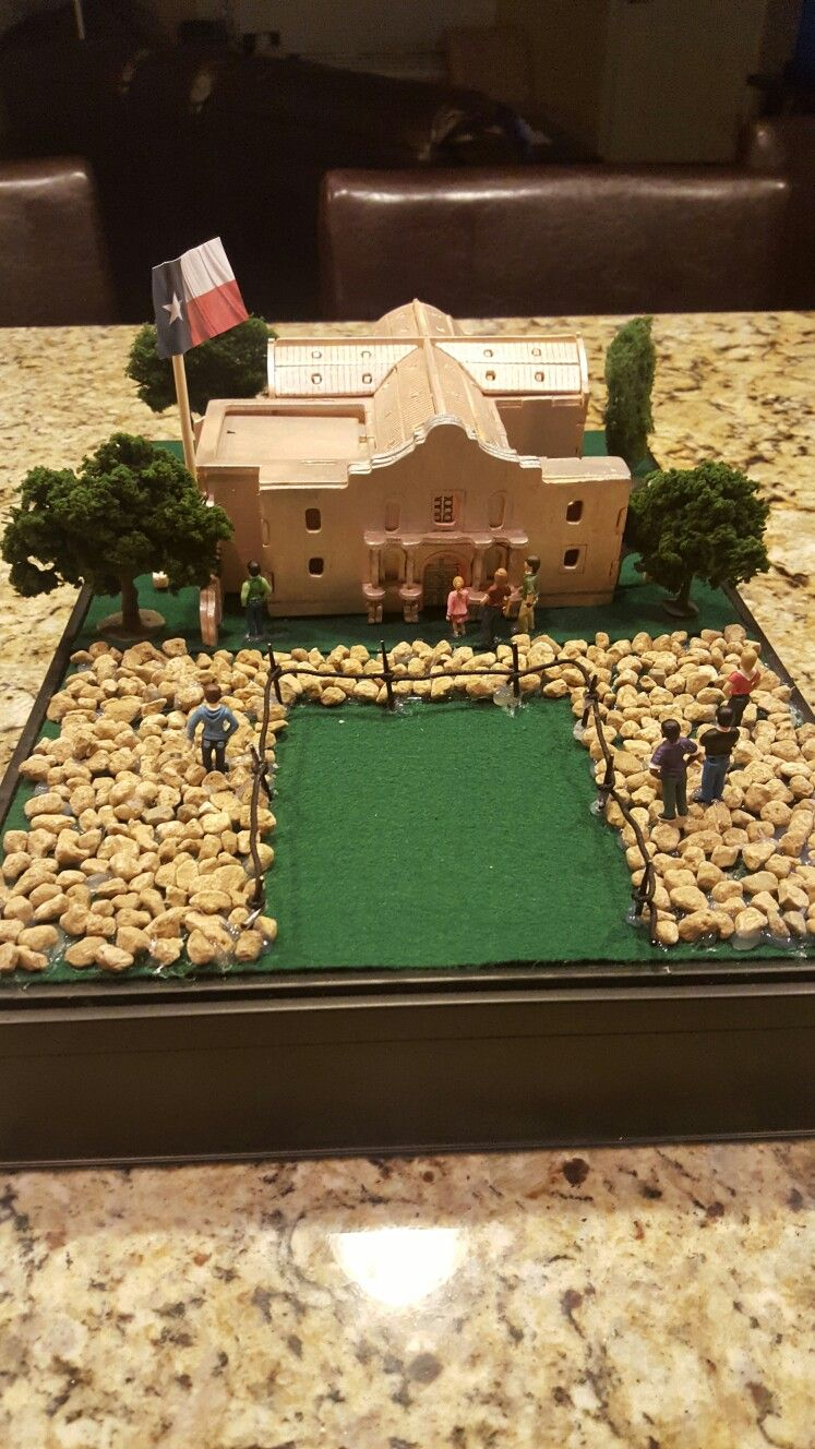 4th Grade Alamo Project Diorama Kids School Projects Mission Projects