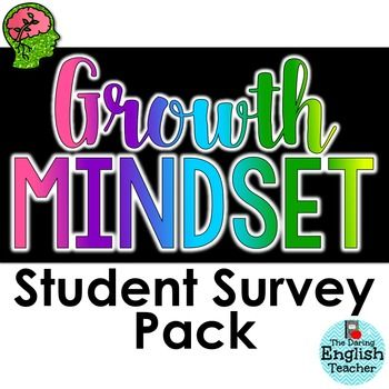Growth Mindset Student Survey Pack  Student Survey Mindset And