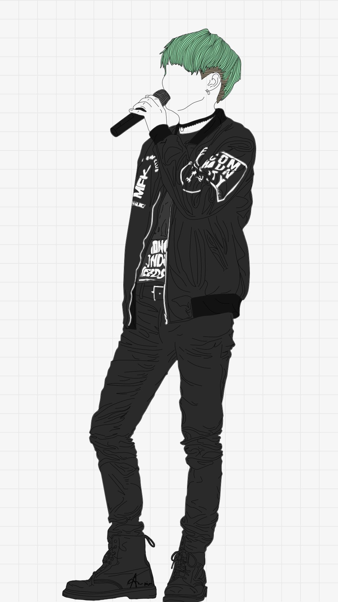 Line Art Kpop : Suga lineart bts fanart pinterest