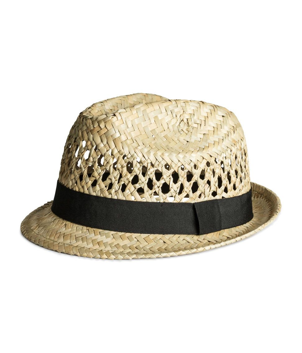 c35d1ad773a Straw hat with black grosgrain band.