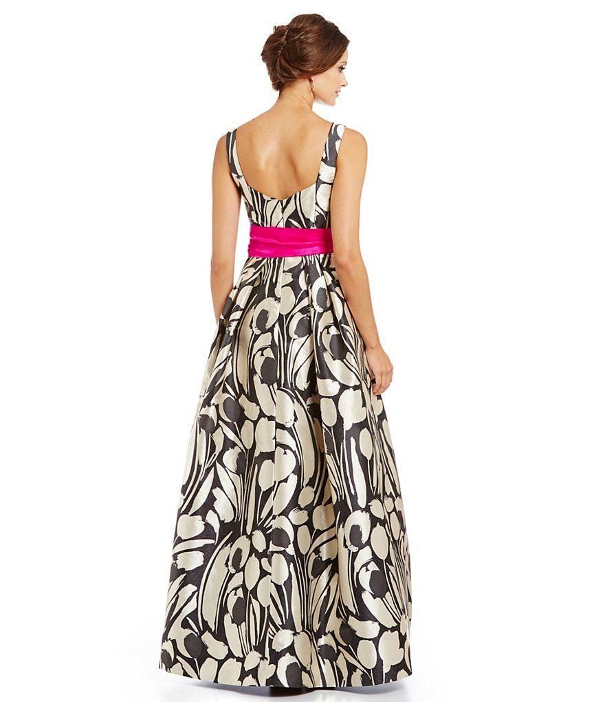 Eliza J Sleeveless Printed Ballgown | evening garments | Pinterest ...