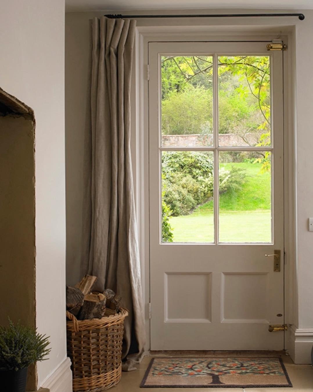 Cke Interiors On Instagram Beautiful And Simple Doorlove Entrances Entrancehall Door Window Treatments Front Door Curtains French Door Window Treatments