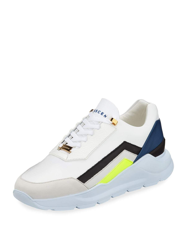 f462b2078c64 BUSCEMI MEN S STRADA LEATHER TRAINER SNEAKERS.  buscemi  shoes ...