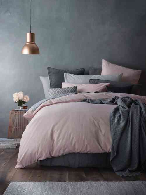 Déco chambre gris et rose pour un intérieur serein et doux ...