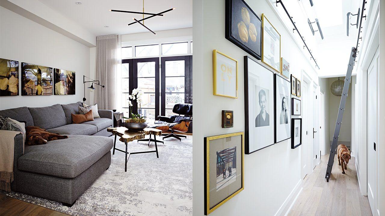 Interior design u a stylish urban cottage with a twostorey addition