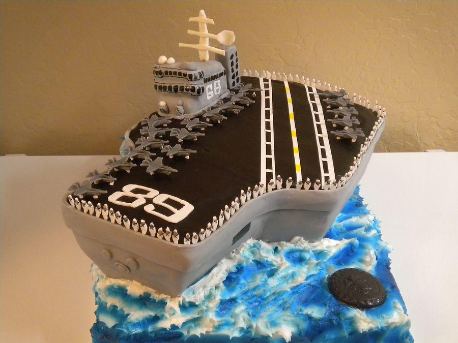 Aircraft Carrier Cake Ship cake Pinterest Aircraft carrier