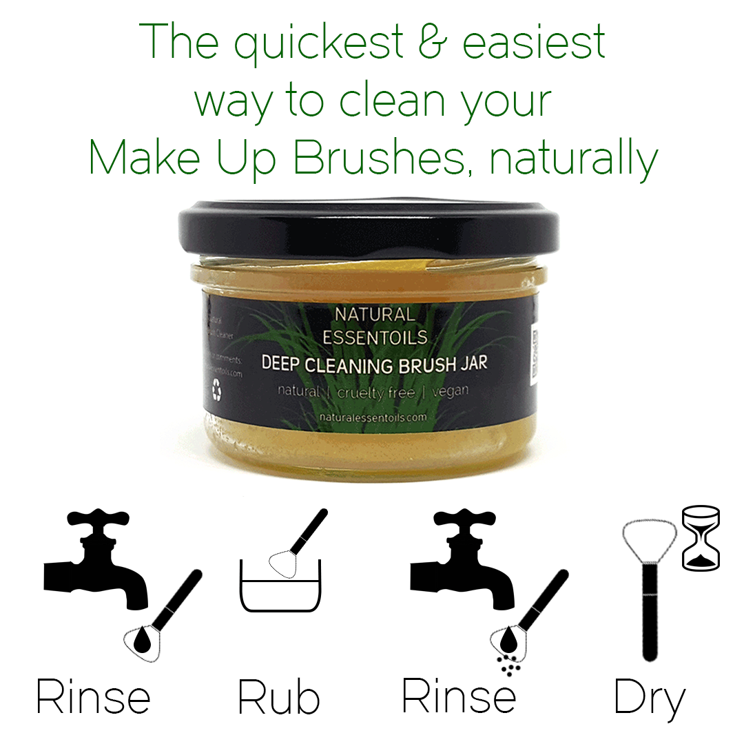 Rinse. Rub. Rinse. Dry. Its that easy to clean your make