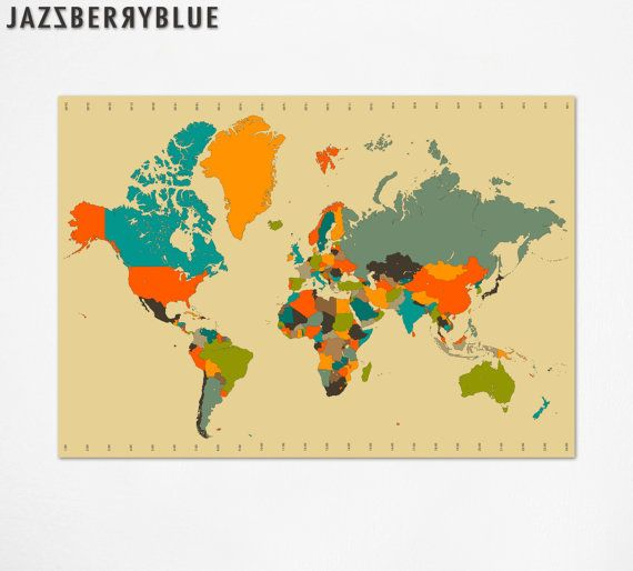 Cool world map illustration line drawings pinterest modern cool world map gumiabroncs Gallery