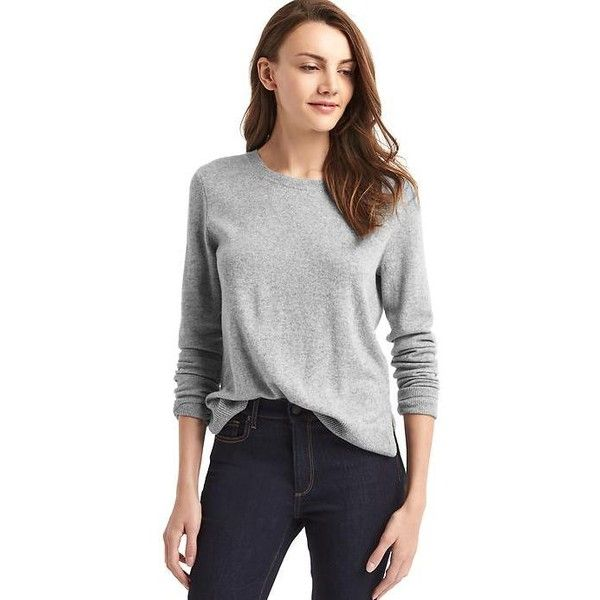 Gap Women Merino Wool Blend Crewneck Sweater ( 90) ❤ liked on Polyvore  featuring tops 17c3669c4
