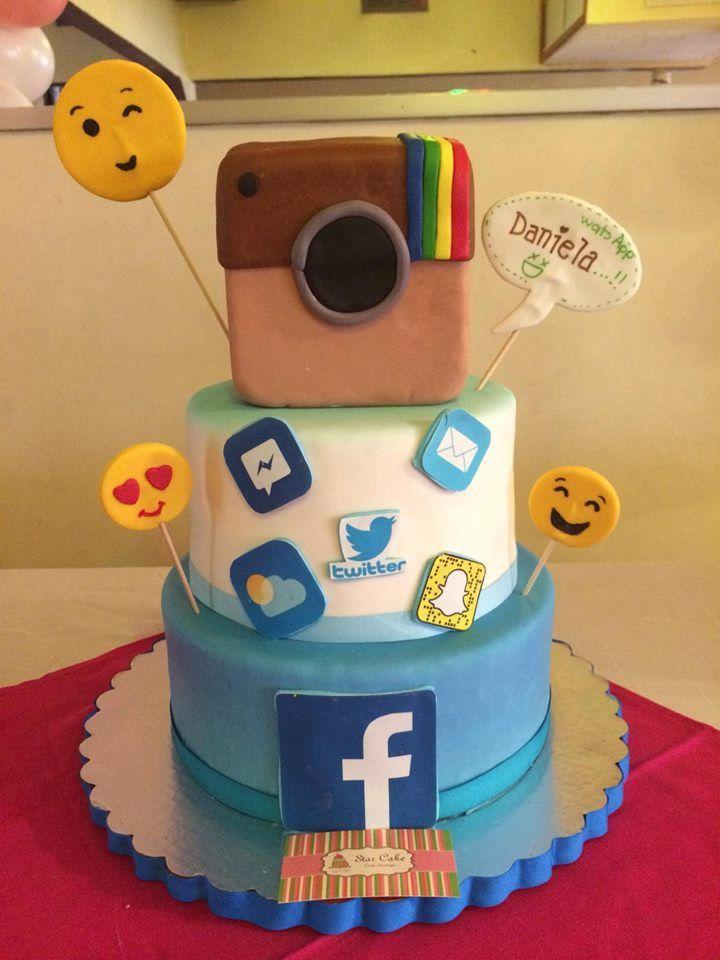 Pastel Fondant Redes Sociales Facebook Instagram Emojis Twitter