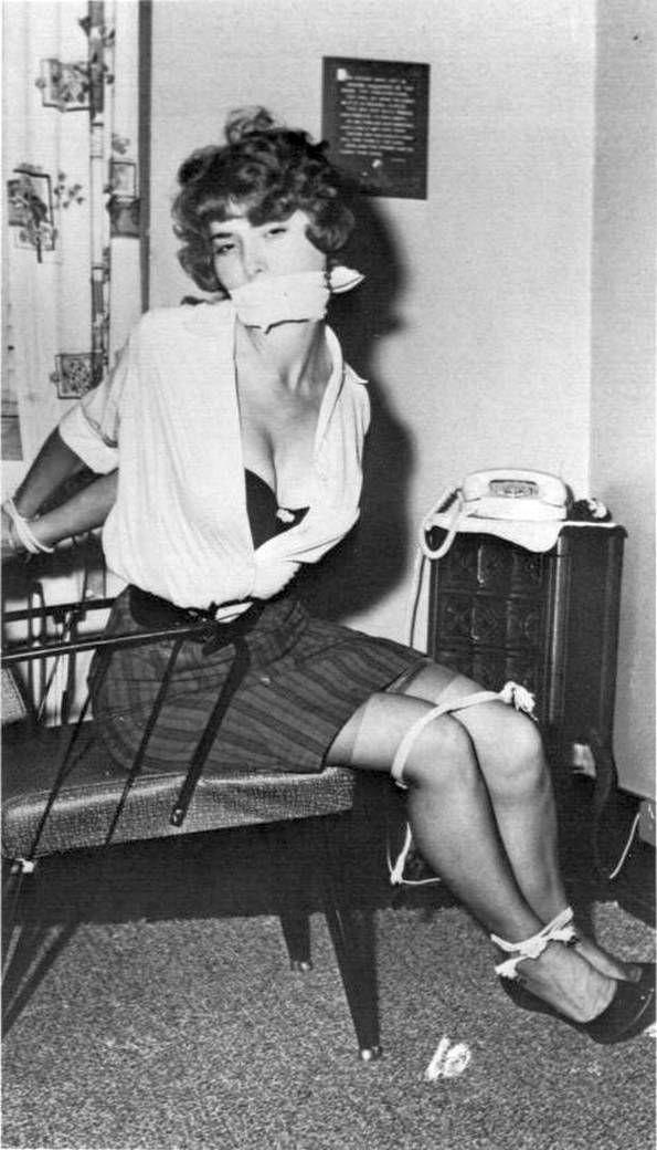 Girls Vintage retro bondage