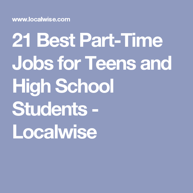 part time job for school students