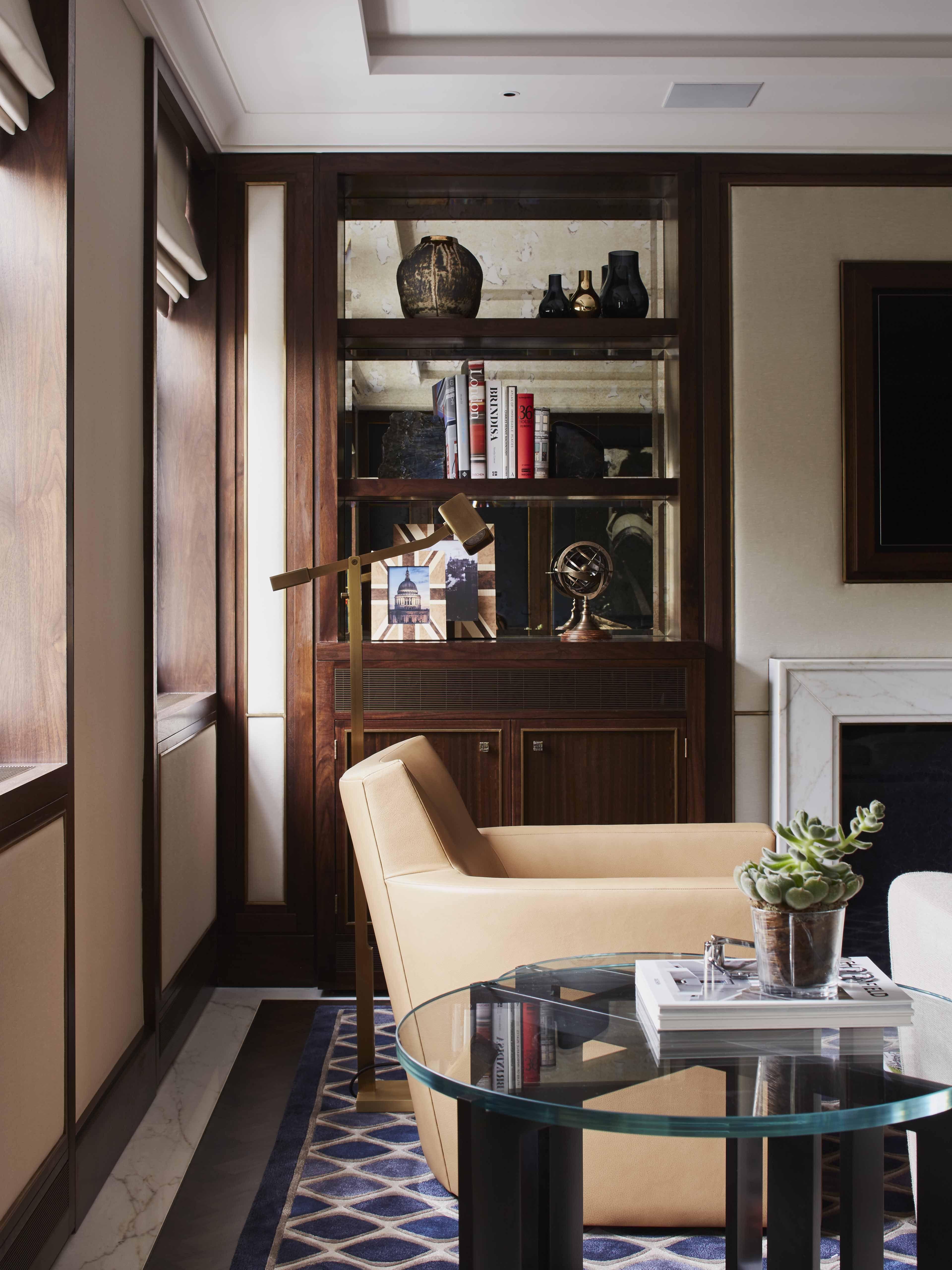 Living Room Nook London Pied A Terre Linley Interiors Interior Livingroom Design Contemporary Woodpanelling Art Londondesign