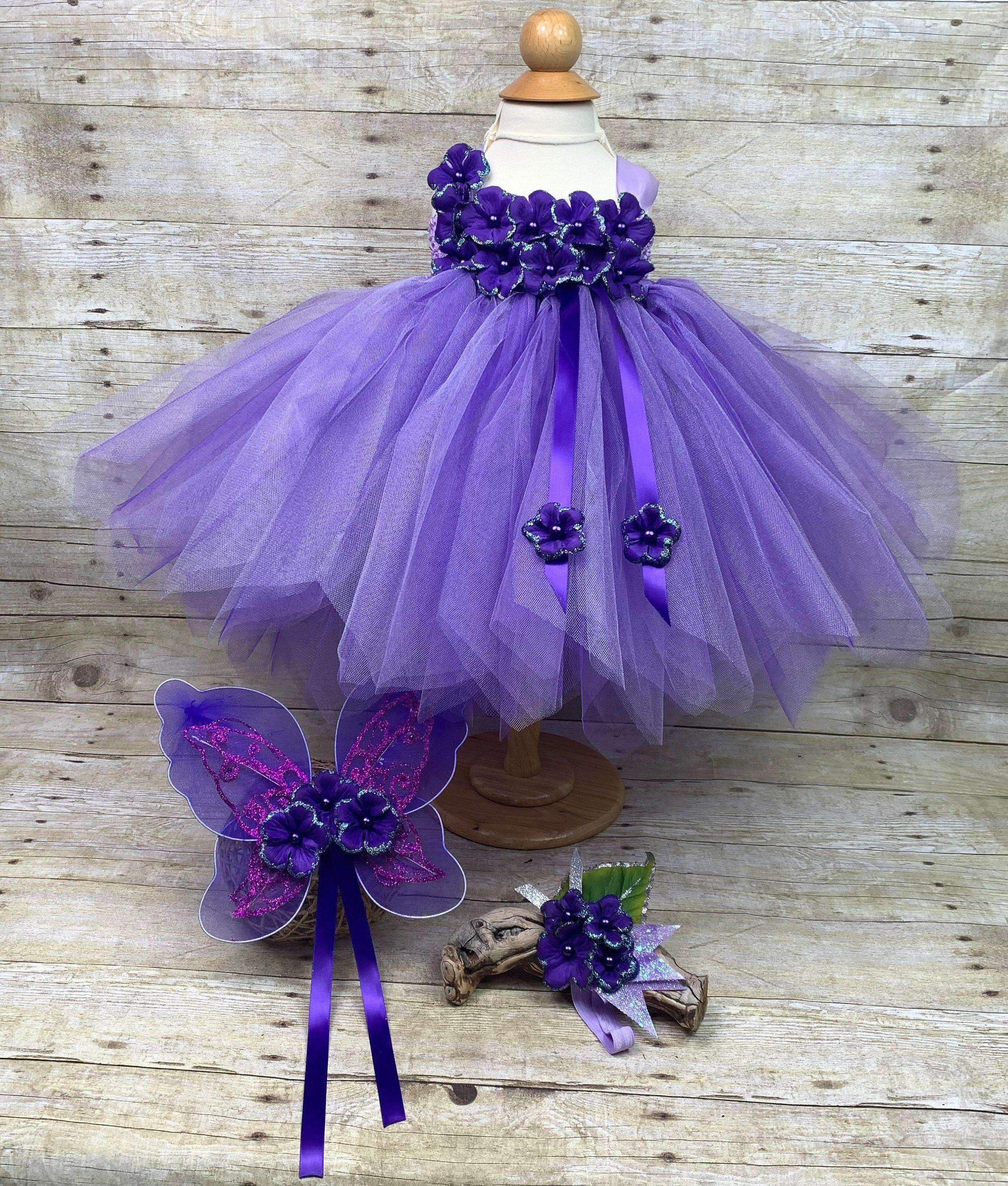 Lavender Purple Tutu Dress Fairy Wings Headband 12 24 Etsy Little Girl Pageant Dresses Purple Tutu Dress Tutu Dress [ 2953 x 2511 Pixel ]