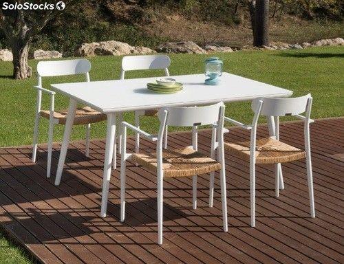 Conjunto terraza Danube aluminio blanco eneaConjunto de ...