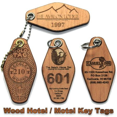 Hotel Motel Leather Or Wood Engraved Key Tags Key Tags Hotel