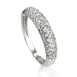 Anel Ouro Branco E Diamantes Bombe Engagement Rings Wedding