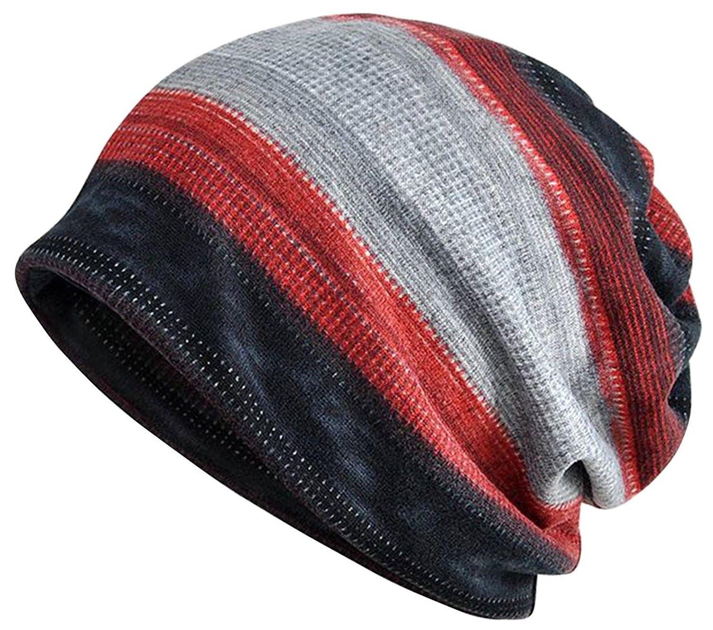 Womens Cotton Chemo Hat Beanie Scarf - Beanie Cap Bandana For Cancer - Black  Gray Red - CU18799RL5K - Scarves   Wraps e6e4508b324e