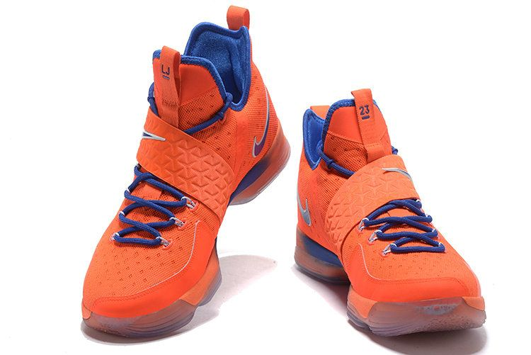 c0eb020b0ed26 Nike LeBron 14 XIV Hardwood Classics PE Max Orange Blue. Find this Pin and  more on Basketball Shoes ...