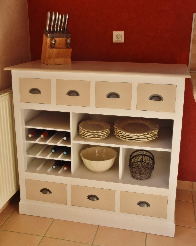 joli meuble de cuisine ou de salle manger avec porte bouteilles et tiroirs - Meuble De Rangement Salle A Manger