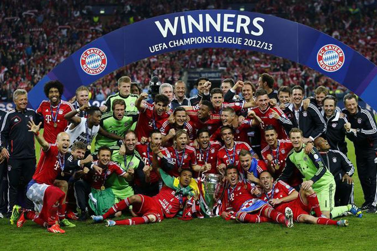 Bayern won it all in 2013