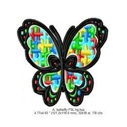 AUTISM BUTTERFLY 5x5