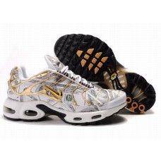 Hommes Nike Air Max TN Gold/Vert/Blanc | Nike air max tn, Nike tn ...