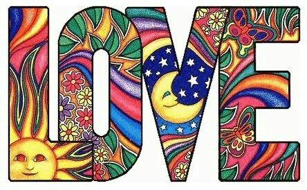 Love, sun, moon...psychedelic art.. #hippie   Psychedelic ...
