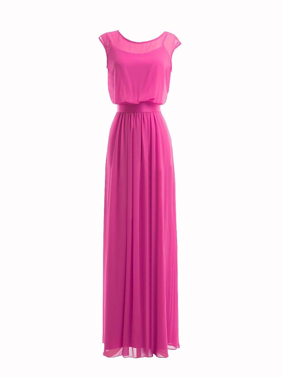 Illusion neckline dress color peony sizes available w