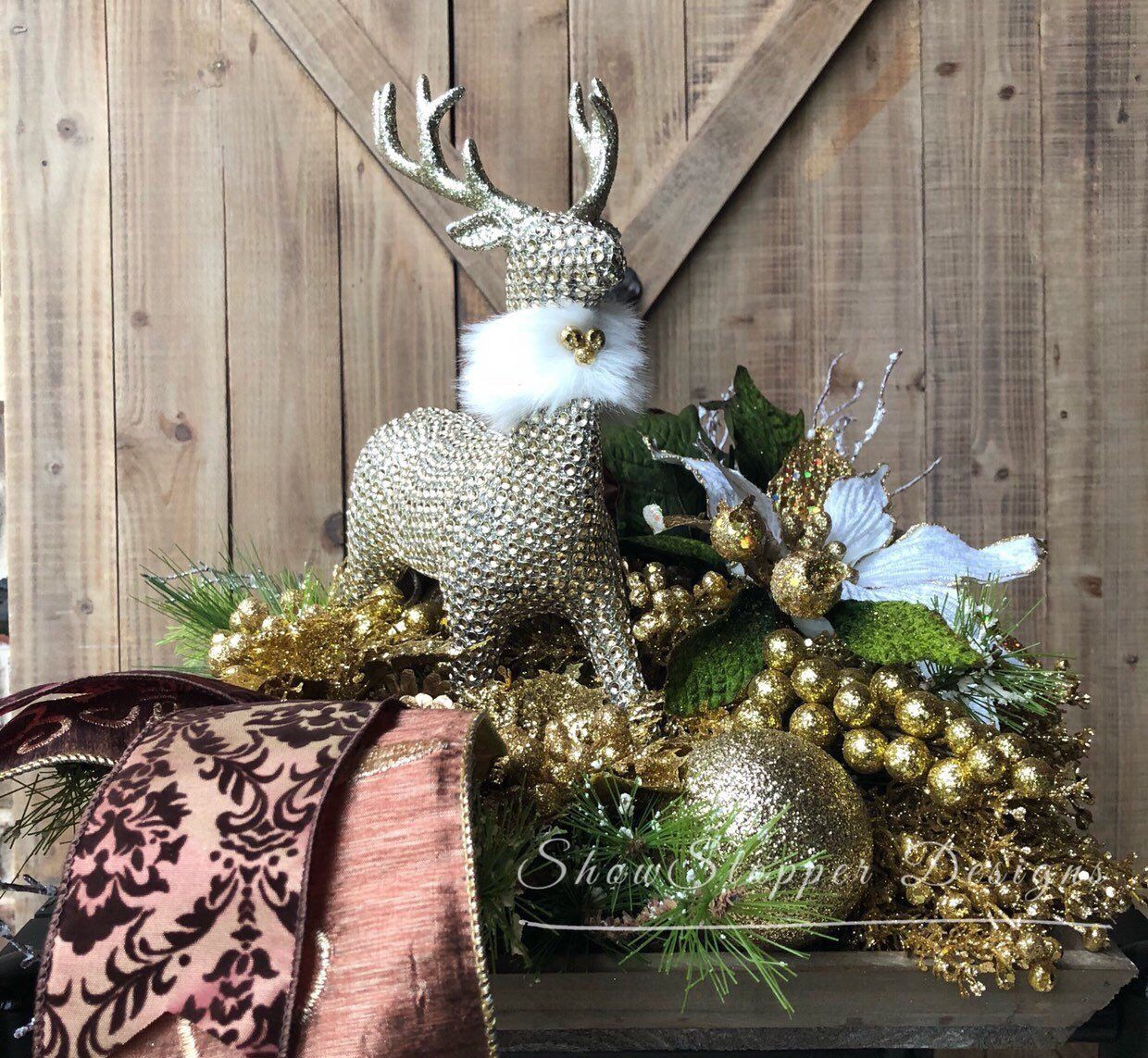 excited to share this item from my etsy shop christmas deer decordeer - Christmas Deer Decor