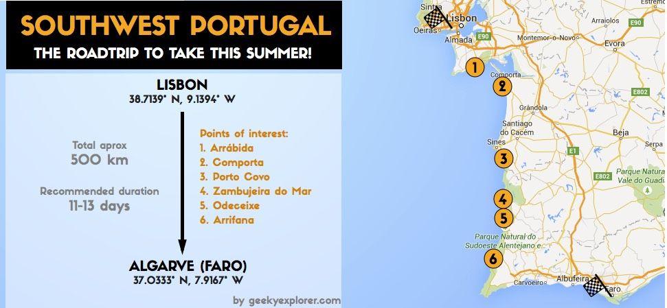 Alentejo Map The Best Summer Idea A Portugal Road Trip Urlaub