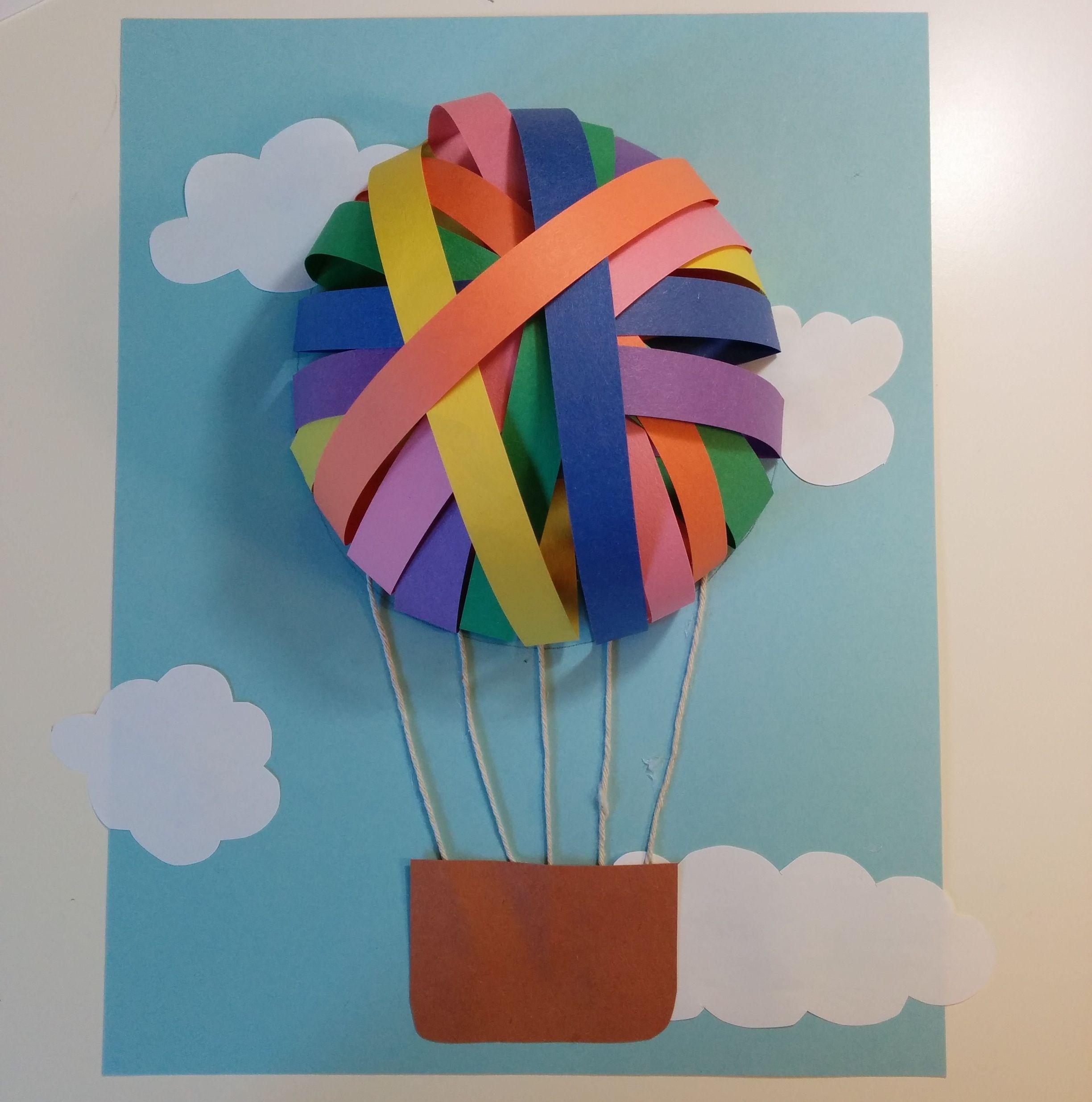 Montgolfi res en papier arts enfants pinterest montgolfi re bricolage papier et planificateur - Montgolfiere en papier ...