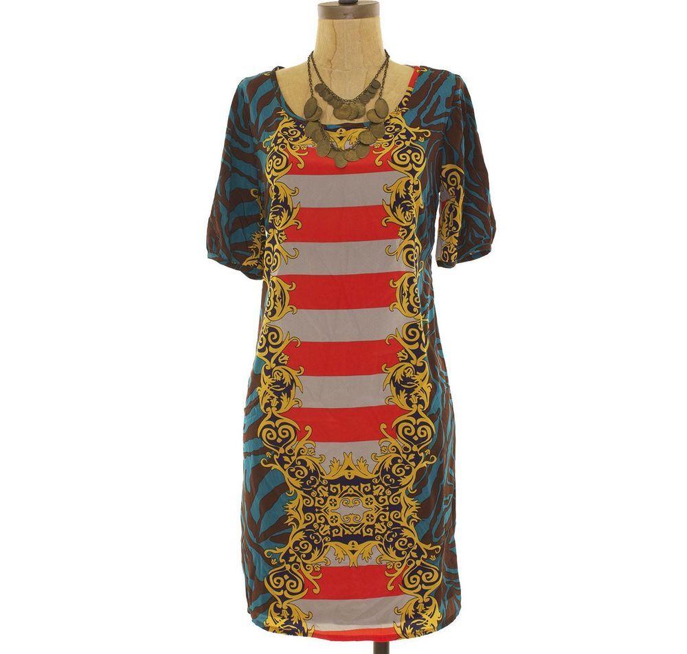d68dcbd1090f Peach Love Cream CA Nordstrom Shift Dress Sz M Baroque Multicolor Teal NWOT  JK1 #fashion #clothing #shoes #accessories #womensclothing #dresses (ebay  link)