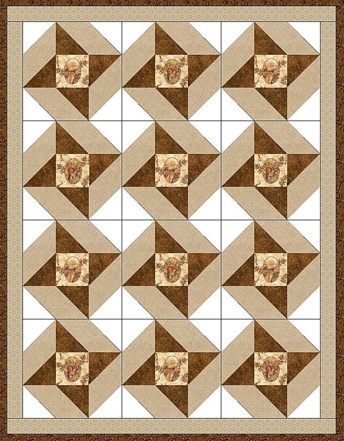 Deer Cameo Star PreCut Quilt Blocks Kit | Country guys, Birch and ... : pre cut quilt blocks - Adamdwight.com